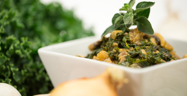 Kale & Mushroom Stroganoffrecipe