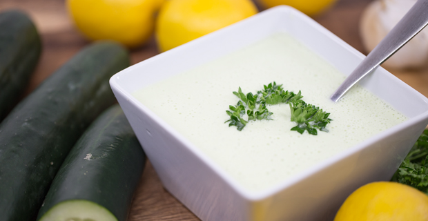 Chilled Cucumber and Yogurt Souprecipe
