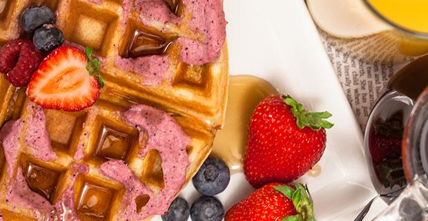 Berry-Infused Wafflesrecipe