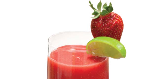 Strawberry-Lime Slushrecipe
