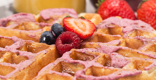 Berry-Infused Wafflesrecipe